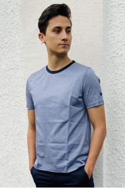 T-Shirt blau weiß gestreift