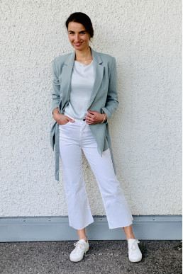 Jeans Coulotte weiß